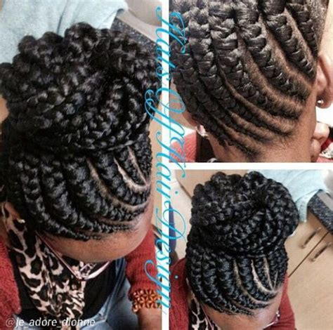 styles on braided lines ghana braids ghana braids with updo straight up braids