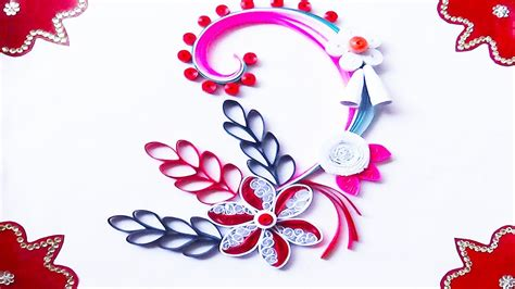 to make beautiful quilling artwork how to make beautiful greeting card for