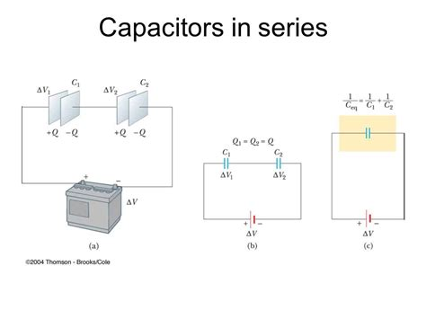 capacitor in parallel vs series chapter 27 capacitance and dielectrics ppt