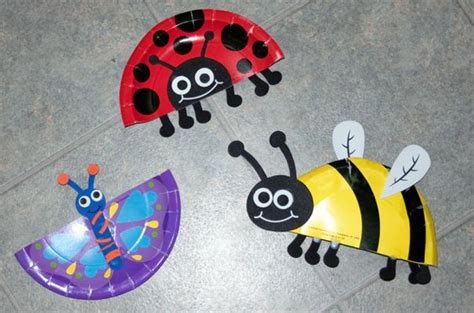 Crafts Using Paper Plates - minibeast ideas using paper plates craft