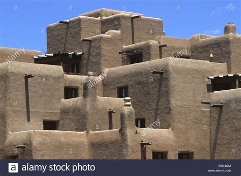 pueblo style architecture adobe pueblo style architecture in santa fe new mexico usa