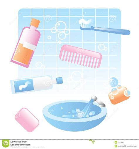 bathroom items list cute bathroom items royalty free stock photography image