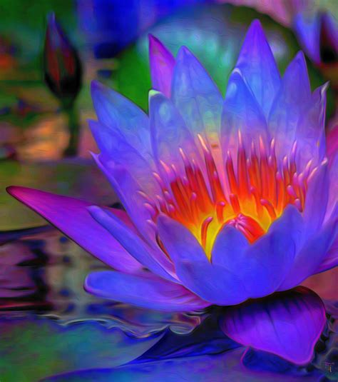Egyptian Duvet Blue Lotus Painting By Fli Art