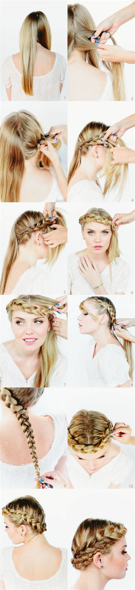 braid lol it s a simple way to do 2 french braids on thick medium crown braid tutorial once wed