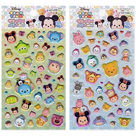 Stiker Tsum Tsum Disney 3d Timbul disney tsum tsum 3d sticker package 4pcs set mickey minnie donald pooh dumbo frozen