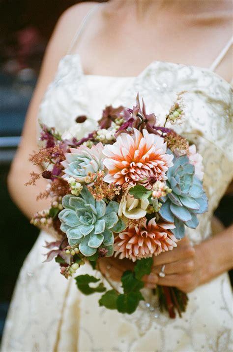Wedding Bouquet Succulents by Bouquet Bridal Succulents And Dahlias