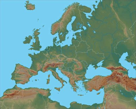 Map Of Europe Mountains by Ural Mountains Map Europe Europe Physical Map