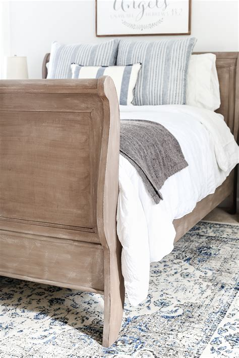 weathered wood bed painted weathered wood bed makeover bless er house