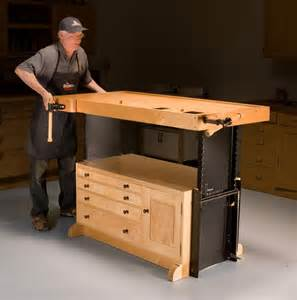 Woodworking Plans Bunk Bed Desk by Woodworking Bench Adjustable Height Discover Woodworking Projects
