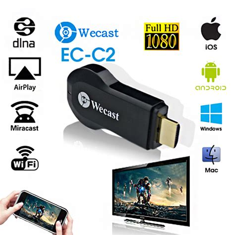 android miracast c2 wecast miracast hdmi dongle smart android wireless tv stick screen mirroring like chromecast