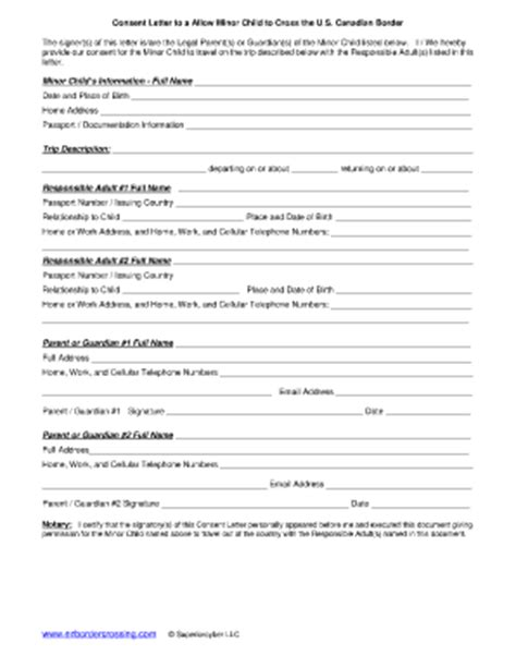 Travel With Only One Parent Permission For Minor Fill Online Printable Fillable Blank Permission For Child To Travel With One Parent Template