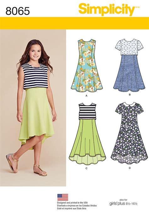 sunny flower pillowcase dress girl sewing pattern pdf simplicity pattern 8065 girls girls plus dress with