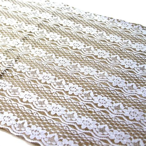 lace burlap table runner
