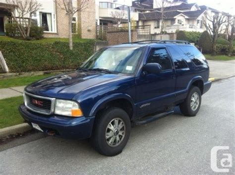 2002 gmc jimmy 2002 gmc jimmy sls port coquitlam for sale in