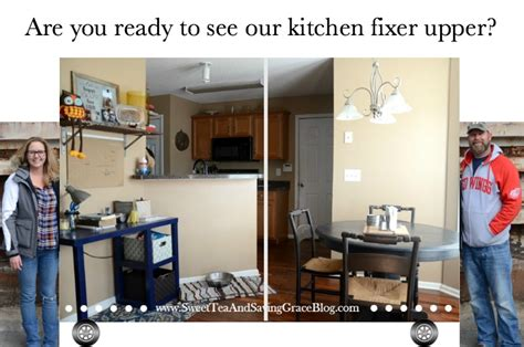 are you ready to see your fixer upper inthewomb the big reveal rustic contemporary kitchen makeover