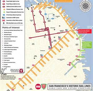 Trolley Map San Francisco san francisco map cable car