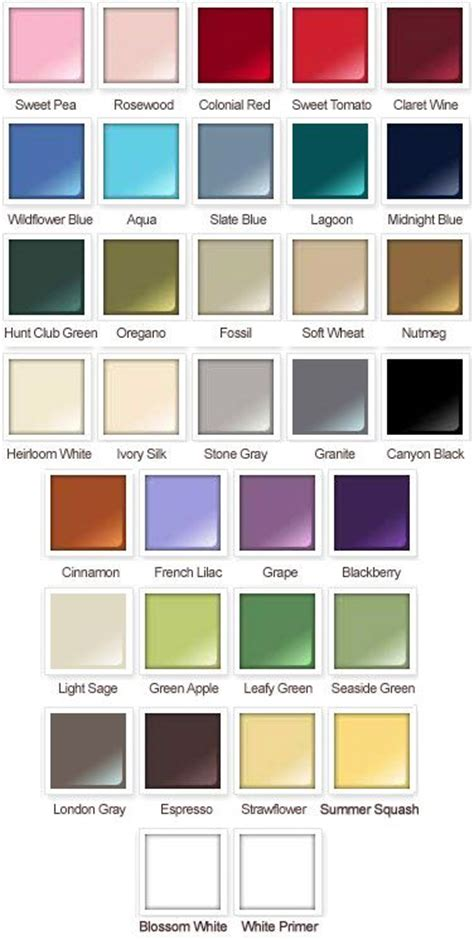 paint colors card rustoleum american accents satin spray paint color card