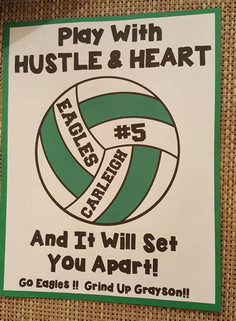 printable volleyball signs year 2 volleyball locker decoration for my daughter s