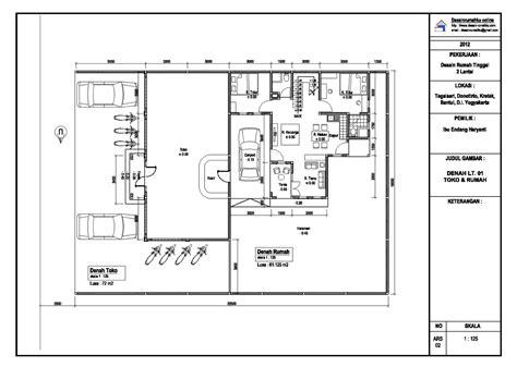 desain rumah contoh produk gambar arsitektur