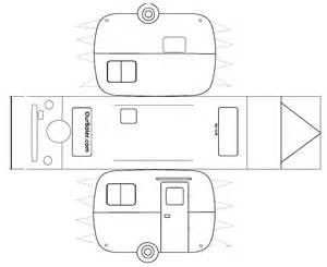 paper car template boler trailer paper template family outdoor adventures