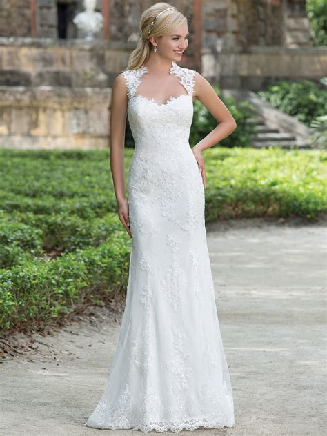 sincerity 3885 anne straight bridal dress