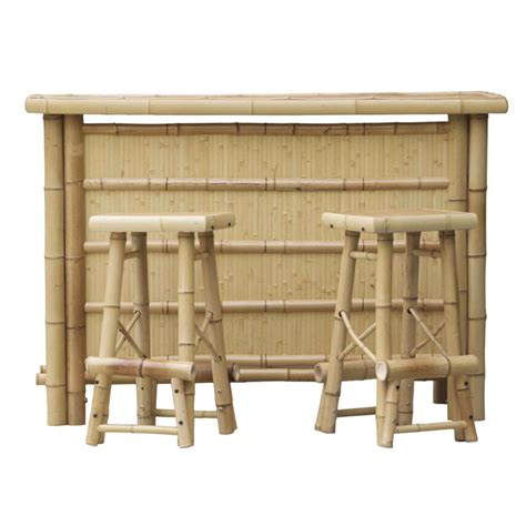 Bar Height Rectangular Patio Table by Shop Bamboo Buddy 25 In X 64 In Rectangle Wood Patio Bar