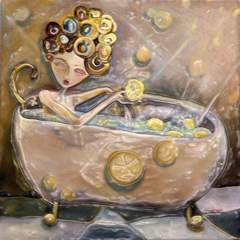 bathtub paintings lemon bath painting by jenna fournier