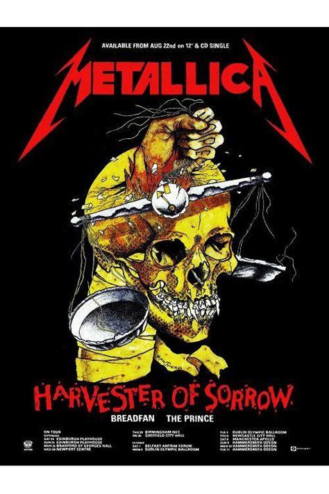 metallica harvester of sorrow metallica harvester of sorrow retro poster by syndicate69