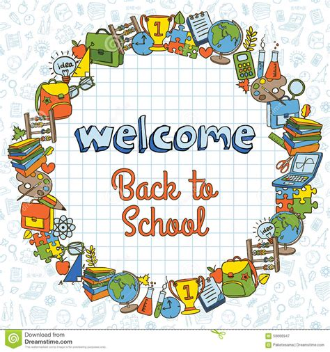 back to school design template back to school template