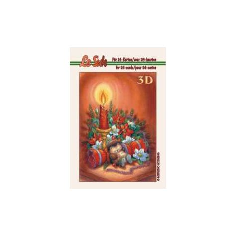 book themed candles 3d mini christmas candles baubles themed paper tole book