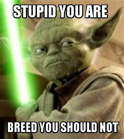 You Stupid Meme - meme creator stupid you are breed you should not meme