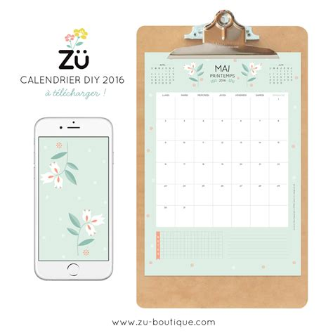 Calendrier Do It Yourself Le Calendrier Diy Mai 2016 Z 252 Le
