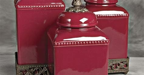 Red Kitchen Canister Sets Ceramic tuscan canister sets ceramic tuscan red kitchen