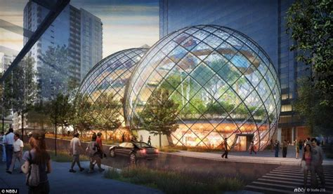 Amazon Headquarters | amazon reveals plans for biosphere hq in seattle to take