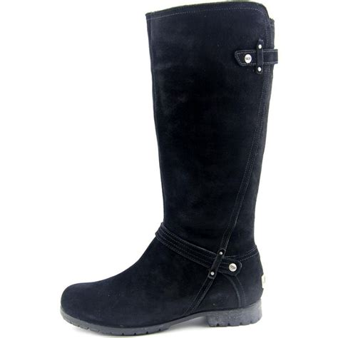 calf boots ugg collection allesia suede black mid calf boot boots