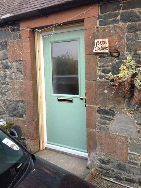 Half Glazed Exterior Doors Cottage Half Glazed Composite Front Door In Chartwell Green Composite Entrance Doors