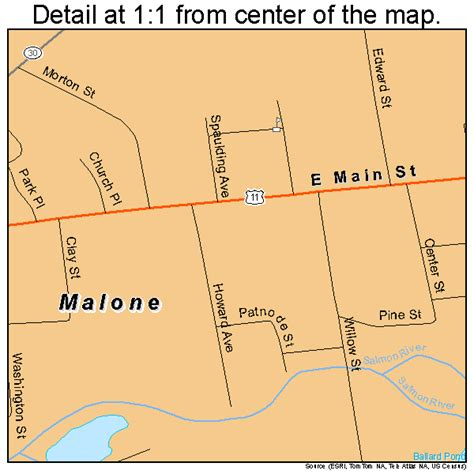 malone ny map malone new york map 3644710