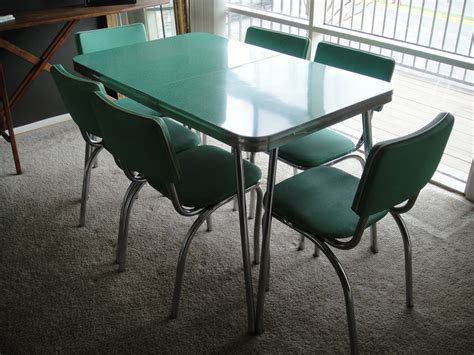 reserved 1950s kitchen table and chairs mint by expatvintage