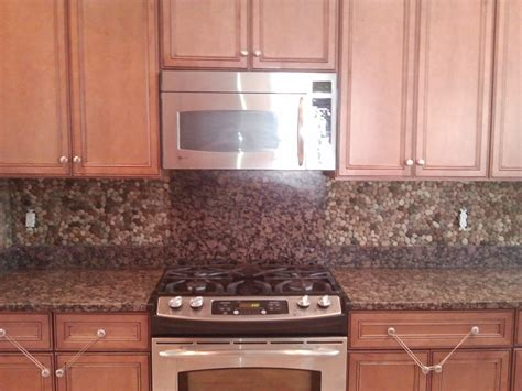 rock kitchen backsplash creative design river rock backsplash for kitchen