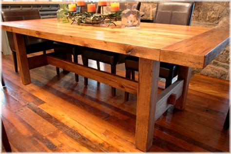 Handmade Kitchen Tables Craftsman Dining Table Plans 187 Woodworktips