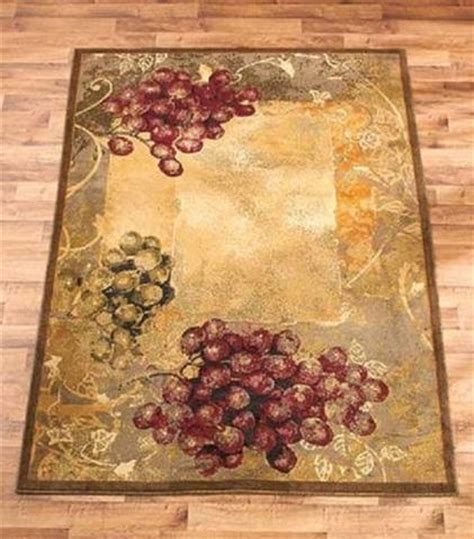 Tuscan Style Rugs by Area Rug Grapes Grapevine Rustic Tuscan Country Vineyard