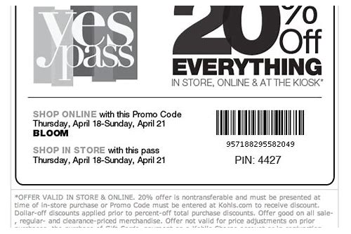 kohls coupons printable 20