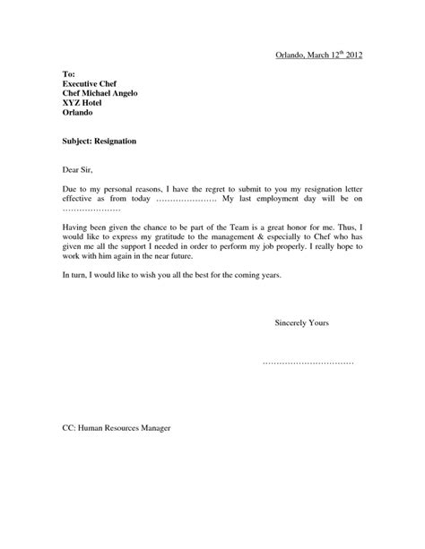 Resignation Letter Due To Personal Reasons Template Resignation Letter Format Marvelous Resignation Letter