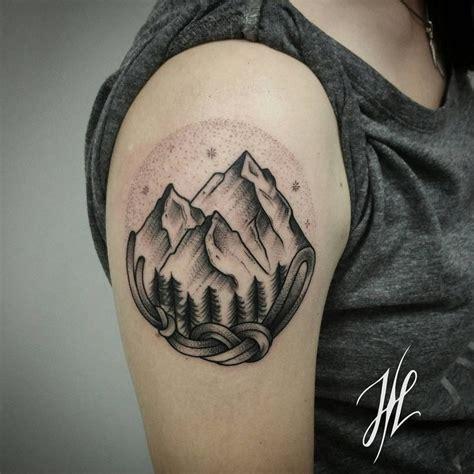 black and grey landscape tattoos body tattoo s black and grey ink landscape piece