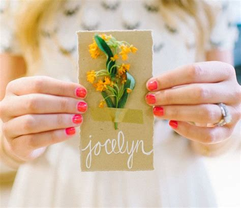 goldcolored gemstone flower wedding place card 1000 images about cards place cards on