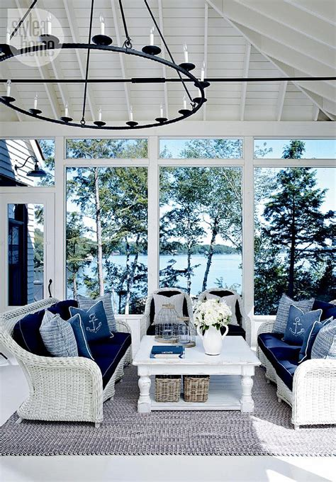 themed patio decor lake muskoka cottage with coastal interiors home bunch