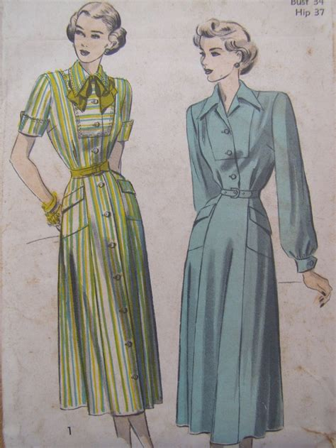 sewing pattern on sale now on sale saucy secretary 1940s advance dress sewing