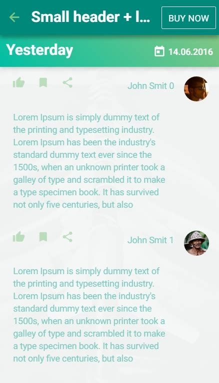 material design header exles material design ui ionic template app by creativeform