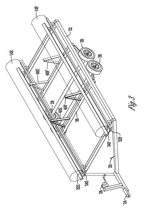 pontoon boat trailer measurements patent us20090297310 pontoon boat trailer guide google
