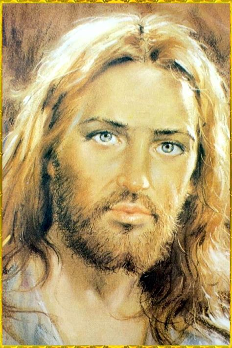 jesus eye color i this picture but jesus would not had blue